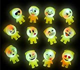 6 Bright Flashing Emoji Emoticon Buddy LIGHT UP LED Rings by DISCOUNT PARTY AND NOVELTY TM