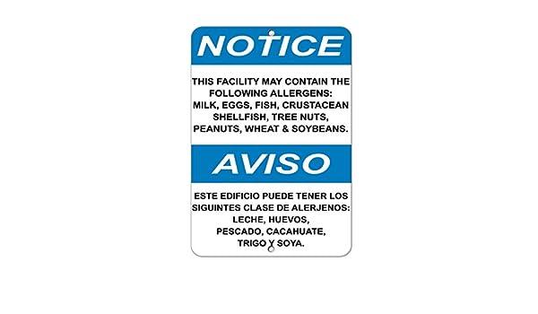 Fastasticdeals Aviso Contiene los siguientes alérgenos: señal de ...