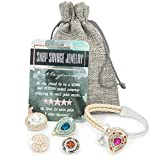Snap Savage Jewelry Women's Summer Charm Bangle Bracelet - Versatile Any Occasion/5 in 1 set