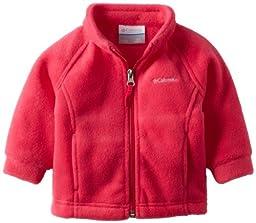 Columbia Baby Girls\' Benton Springs Fleece Jacket, Bright Rose, 3-6 Months