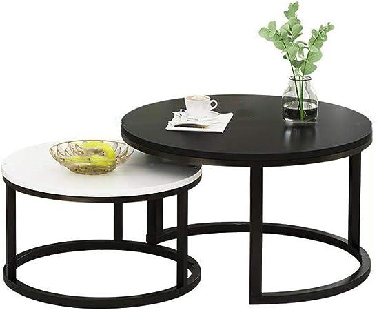Muebles de decoración del hogar Juegos de Mesa de café de té de Lado Redondo, Top