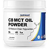 Nutricost C8 MCT Oil Powder 1LB (16oz) - 95% C8 MCT Oil Powder