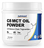 Nutricost C8 MCT Oil Powder 1LB (16oz) – 95% C8 MCT Oil Powder