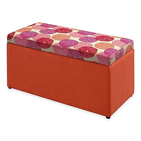 Tree House Lane Kids Upholstered Toy Chest in Orange Dreamer by Generic