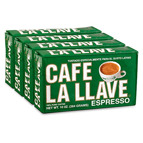 Café La Llave Espresso Coffee, Dark Roast (4 x 10 Ounce Bricks)