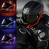 Sizet 2Pcs Helmet Lighting Kit, Bright Light Night Riding Safety Signal Flashing Stripe Bar Sticker Cool Motorcycle Cold Light