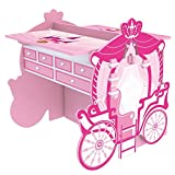 2 Piece Pink Girly Carriage Activity Table and Armoire Set