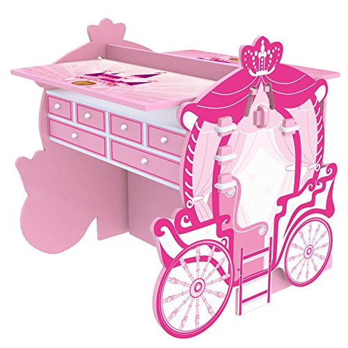 2 Piece Pink Girly Carriage Activity Table and Armoire Set by O'Kids
