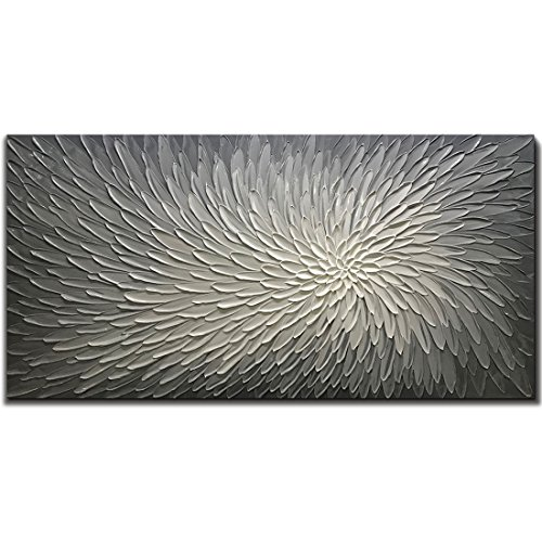 Amei Art Paintings, 24X48 Inch Paintings Oil Hand Painting 3D Hand-Painted On Canvas Abstract Artwork Art Wood Inside Framed Hanging Wall Decoration Abstract Painting ()