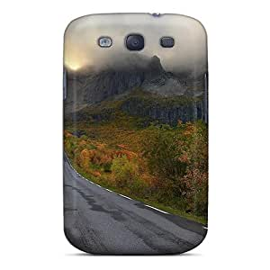 New Design Shatterproof Case For Galaxy S3 (road To Mystic Mountains In Autumn)
