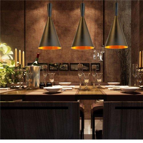 LightInTheBox Vintage Chandelier Ceiling Pendant Light Retro Design Black/White C Type Cafe Game Room Restaurant Pendant Lamps (Black)