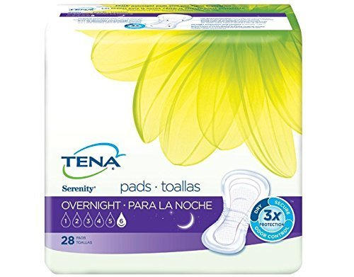 TENA Serenity Overnight Ultimate Pads, 28 Count - Pack of 3 by TENA P