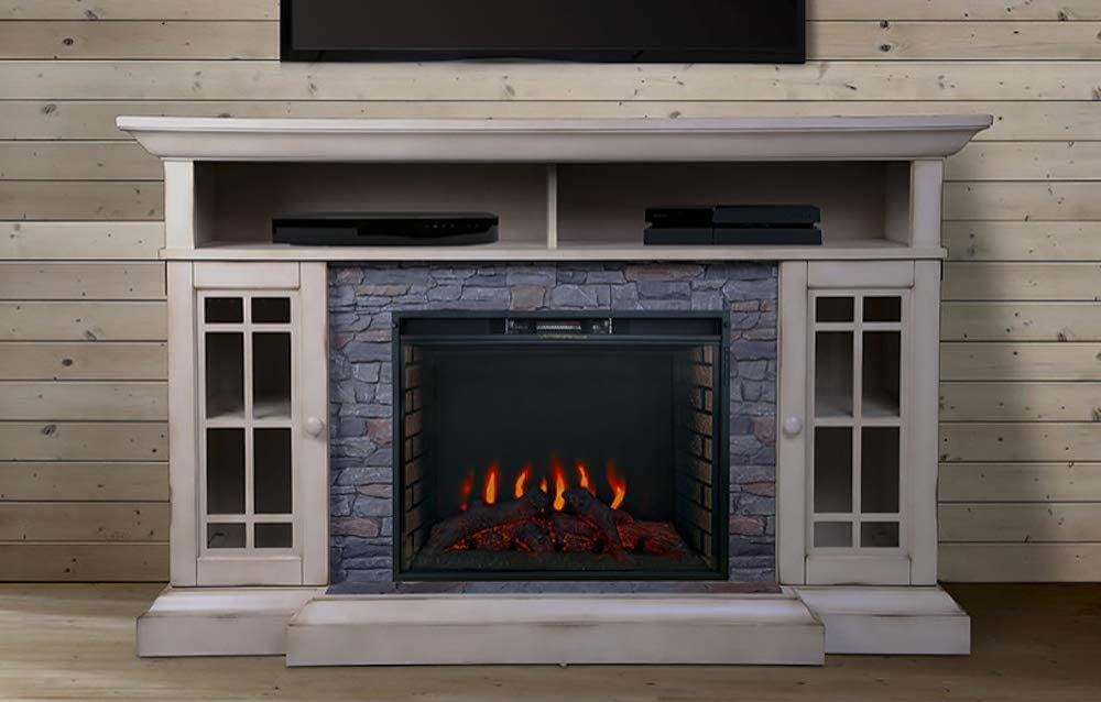 ALLENHOME Bennett Infrared Electric Fireplace TV Stand