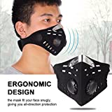 Vbestlife Dustproof Face Mask, Outdoor Bike Cycling Windproof Anti-dust Filter Half Face Mask Anti-Pollution Neoprene Mask for Outdoor Activities Black