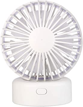 Color : White USB Table Desk Personal Fan Hot Air Balloon USB Fan Handheld Desktop Mute Mini Fan Rotary Gift for Home Office Table