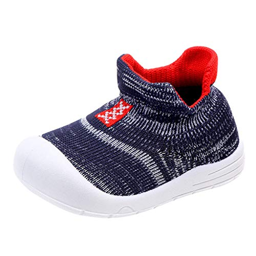 Kids Baby Girls Boys Sneakers Toddler Infant Solid Color Mesh Soft Sole Sport Shoes (Recommended Age:9-12Months, Blue)