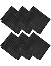 Microfiber Cleaning Cloths, Fosmon 6-Pack of Microfiber Cleaning Cloths [6 x 7 inches / 15.2 x 17.8 cm] (Black)