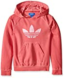adidas Originals Girls Junior Terry Hoodie, Light Pastel Pink, Small