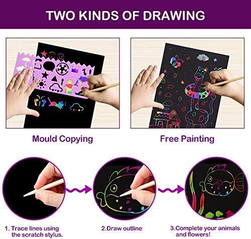 pigipigi Scratch Paper Art for Kids