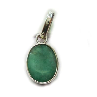 Buy Certified Natural 8 25 Ratti Emerald Silver Pendant