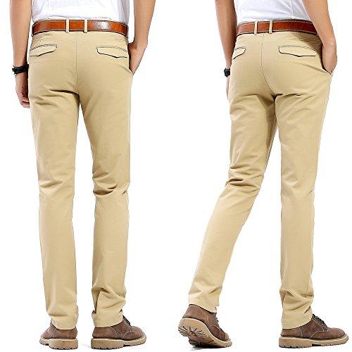 Pantalons Style Couleurs Pour Kaki Chinois Slim Décontractés 20 Coupe 100 Hommes Coton Le Choisir vavwr0q