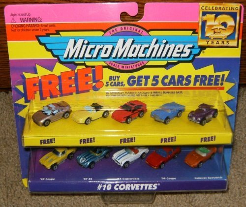 Micro Machines Corvettes #10 + 5 Bonus Cars ()