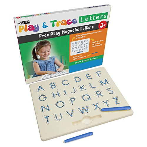 Ivy Step Magnetic Alphabet Letter Tracing Board with Learn to Write for Kids Booklet and Stylus Pen. Aid to Assist Tracing Letters and Numbers for Preschool