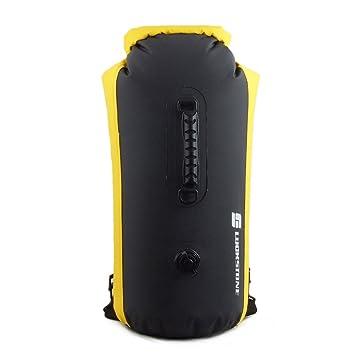 LUCKSTONE - Mochila hinchable impermeable flotante para exteriores, 25 l/35 l/60 l, bolsa de buceo hinchable, bolsa seca de PVC, bolsa seca para ...