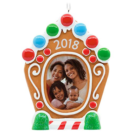 Hallmark Gingerbread House 2018 Picture Frame Ornament Family