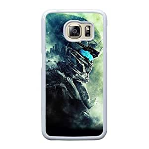 Grouden R Create and Design Phone Case,Halo 5 Cell Phone Case for Samsung Galaxy S6 Edge White + 1*Touch Stylus Pen (Free) GHL-2870789