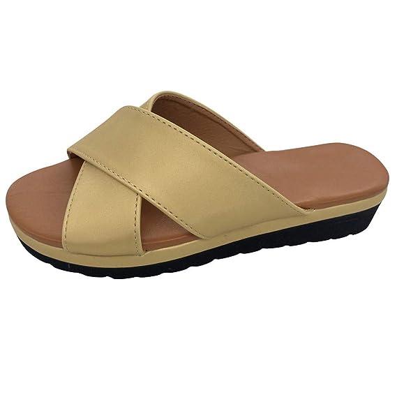 vende intera collezione miglior servizio Pantofole Donna Sandali Estivi Plateau Infradito alla Caviglia ...