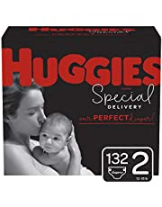 Huggies Special Delivery Hypoallergenic Baby Diapers, Size 2 (12-18 lbs.), 132 Count, ECONOMY PLUS Pack