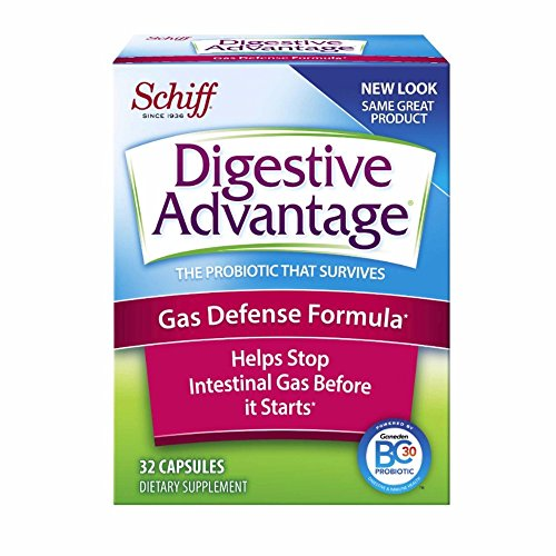 Digestive Advantage Gas Defense Probiotic, 32 Capsules (Pack of 6)