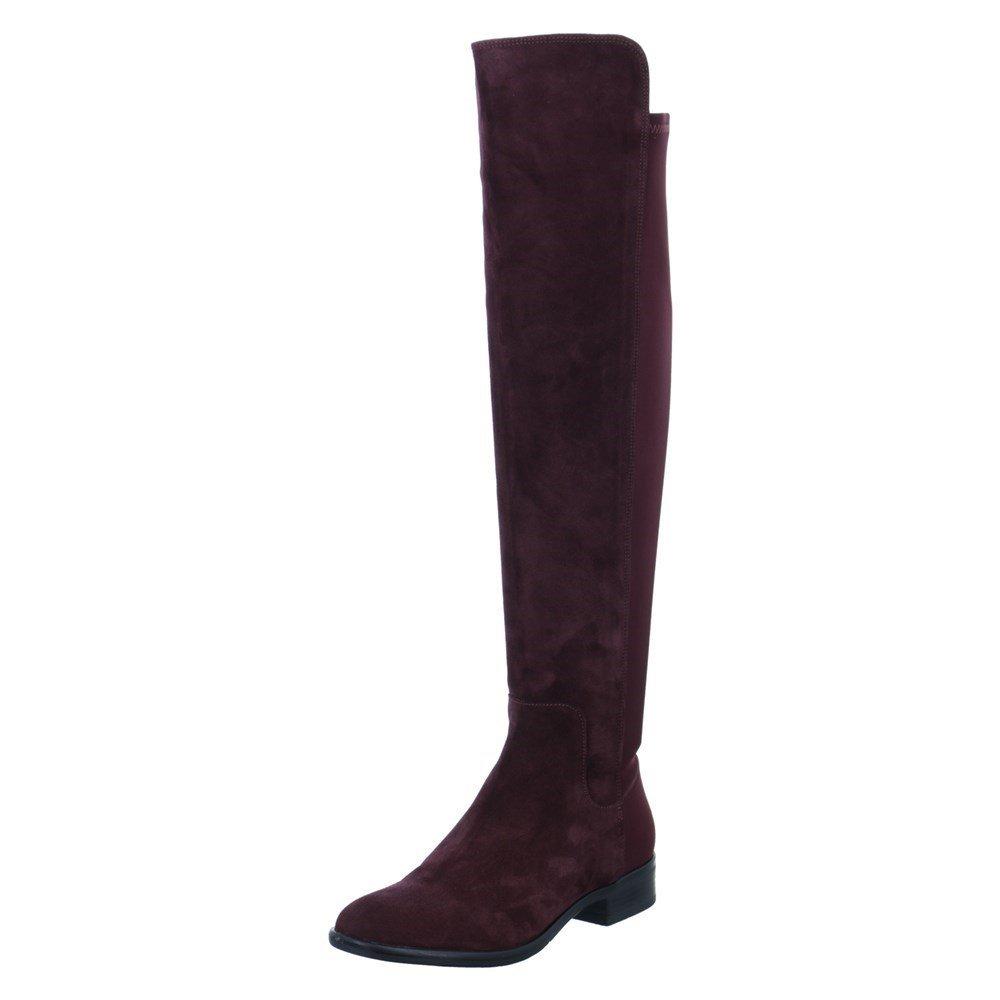Clarks Women's Caddy Belle Long Boots 4.5 D (M) UK/ 7 B(M) US Aubergine Suede