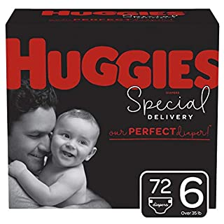 Huggies Special Delivery Hypoallergenic Baby Diapers, Size 6, 72 Ct, One Month Supply