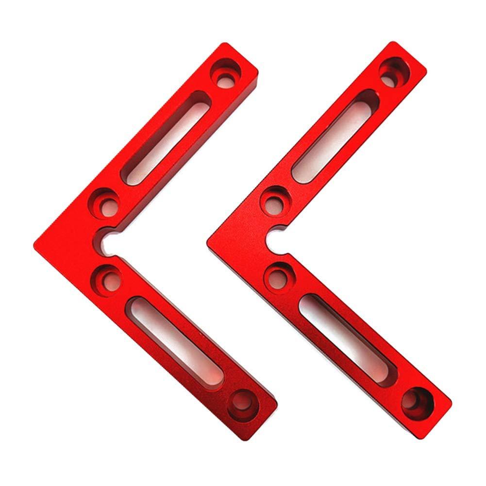Without Box L-Winkelklemmen f/ür Bilderrahmen 90 Grad-Positionierungswinkel 1pc Schr/änke und Schubladen GCDN Aluminiumlegierung Holzbearbeitungswerkzeug 12 x 12 cm rechtwinklige Klemmen