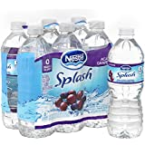 NESTLE SPLASH Water Beverages with Natural Fruit Flavors, Acai Grape 16.9-ounce plastic bottles (Pack of 6)