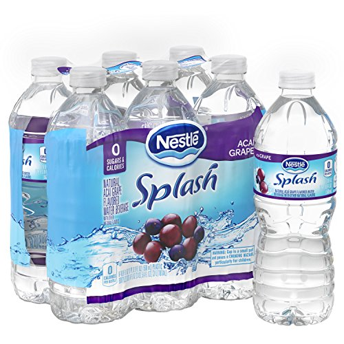 NESTLE SPLASH Water Beverages with Natural Fruit Flavors, Acai Grape 16.9-ounce plastic bottles (Pack of 6) (Pure Acai Fruit)