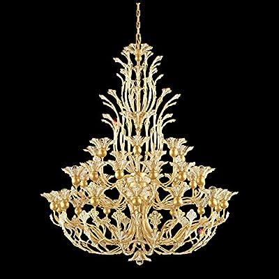 Schonbek 7868-22S Swarovski Lighting Rivendell Chandelier, Heirloom Gold