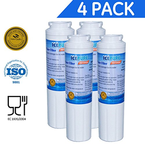 Icepure RWF0900A 4PACK Refrigerator Water Filter Compatible with Maytag UKF8001,WHIRLPOOL 4396395,EveryDrop EDR4RXD1,Filter 4 by ICEPURE