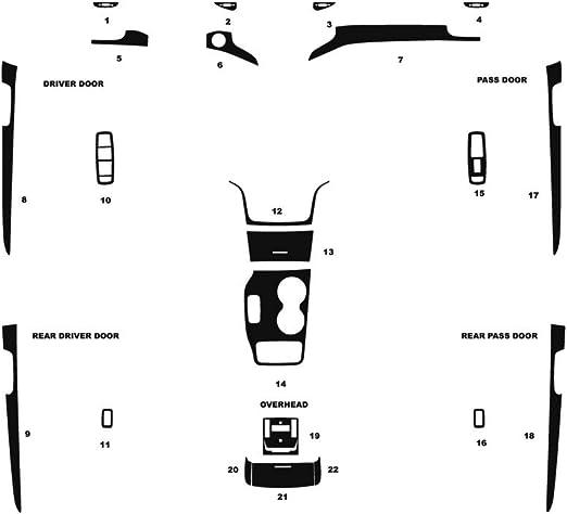 Rvinyl Rdash Dash Kit Decal Trim for Jeep Grand Cherokee 2005-2007 Gloss White