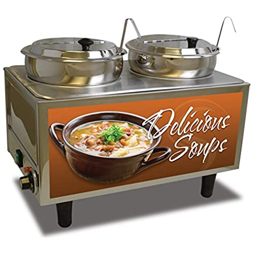 "Benchmark USA 51072S Soup Station Warmer, 17"" H, 13"" W, 21"" L, Stainless Steel for cheap"