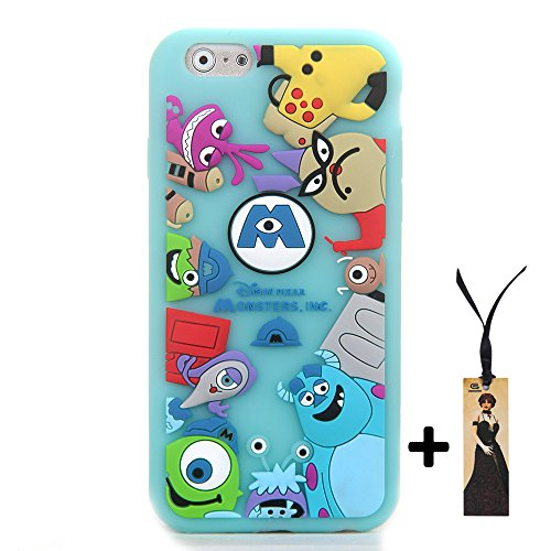 CASESOPHY 3D Cartoon Monsters Case for Apple iPhone 6 iPhone6s Regular Size 4.7