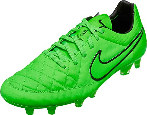 Nike Tiempo Legend V FG Mens Football Boots 631518 Soccer Cleats Firm Ground (US 9, Green Strike Black 330)
