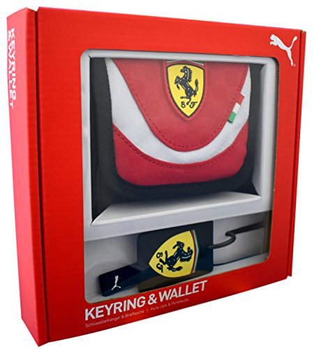 Puma Ferrari Sports Wallet & Key Ring Gift Set