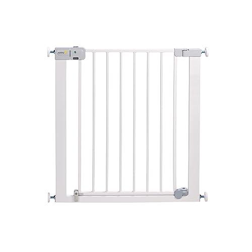 Safety 1st Auto Close - Barrera de puerta, de metal, color blanco