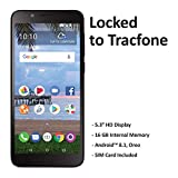 TracFone TCL LX 4G LTE Prepaid Smartphone (Locked) - Black - 16GB - Sim Card Included - CDMA