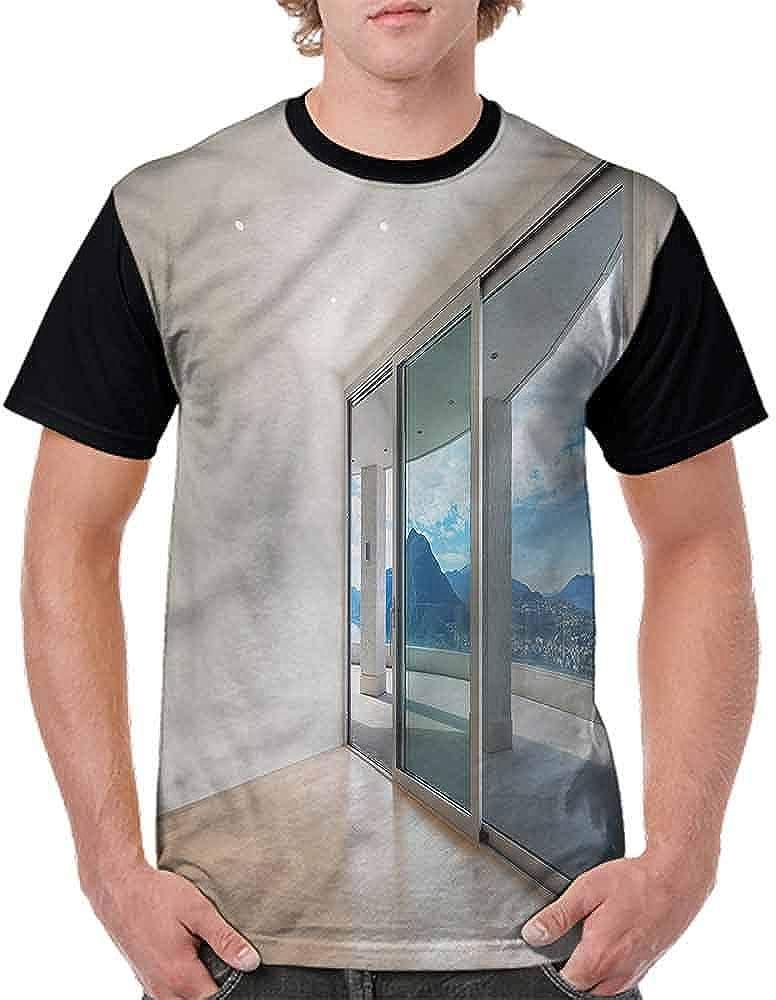 Cotton T-Shirt,Paris Coffee Shop Fashion Personality Customization
