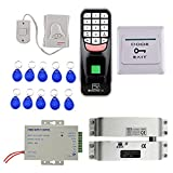 Baosity Super Safe 1000 Fingerprints Door Access Control System with 10 Key Card and Keypad Smart Lock Work Off Line