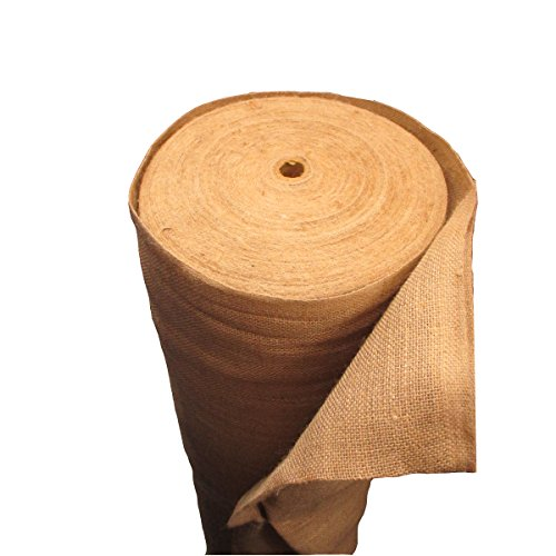 (LA Linen 60-Inch Wide  Natural Burlap , 100 Yard Roll)